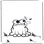 Ausmalbilder Tiere - Frosch