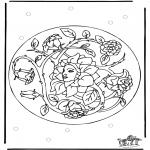 Allerhand Ausmalbilder - Frühling Mandala