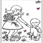 Allerhand Ausmalbilder - Frühlingsblumen 2