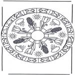 Malvorlagen Mandalas - Frühlingsmandala