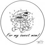 Ausmalbilder Themen - Für liebe Mama