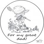 Ausmalbilder Themen - Für lieben Papa