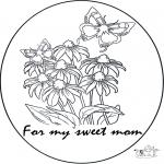 Malvorlagen Basteln - Für Mama