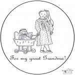 Malvorlagen Basteln - Für Oma