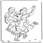 Allerhand Ausmalbilder - Fussball 3