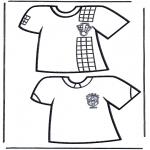 Allerhand Ausmalbilder - Fussball T-shirt 1