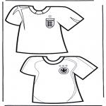 Allerhand Ausmalbilder - Fussball T-shirt 2