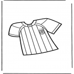 Allerhand Ausmalbilder - Fussball T-shirt