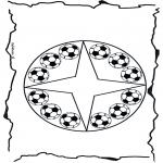 Malvorlagen Mandalas - Fussballmandala