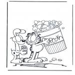 Ausmalbilder Comicfigure - Garfield 2