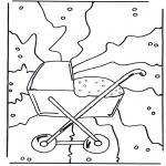 Ausmalbilder Themen - Geburt 1