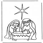 Bibel Ausmalbilder - Geburt Jesus 1