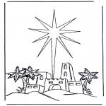 Bibel Ausmalbilder - Geburt Jesus 2