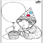 Ausmalbilder Themen - Geburtstag 1 Jahr