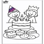 Ausmalbilder Themen - Geburtstag 3