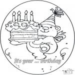 Ausmalbilder Themen - Geburtstag 4 Jahre
