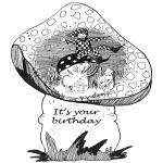 Malvorlagen Basteln - Geburtstagkarte 1