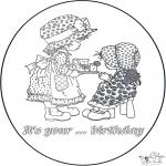 Malvorlagen Basteln - Geburtstagskarte 2