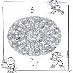 Malvorlagen Mandalas - Geo Mandala