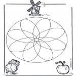 Malvorlagen Mandalas - Geomandala 1