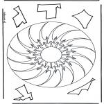 Malvorlagen Mandalas - Geomandala 10