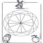 Malvorlagen Mandalas - Geomandala 2