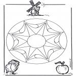 Malvorlagen Mandalas - Geomandala 3