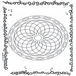 Malvorlagen Mandalas - Geomandala 5