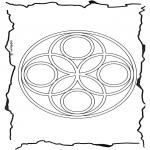 Malvorlagen Mandalas - Geomandala 6