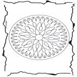Malvorlagen Mandalas - Geomandala 7