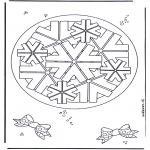 Malvorlagen Mandalas - Geomandala 8