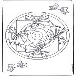 Malvorlagen Mandalas - Geomandala 9