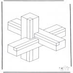 Allerhand Ausmalbilder - Geometrische Formen 1