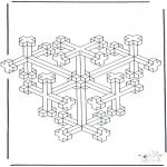 Allerhand Ausmalbilder - Geometrische Formen 10