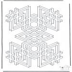 Allerhand Ausmalbilder - Geometrische Formen 2