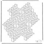 Allerhand Ausmalbilder - Geometrische Formen 3