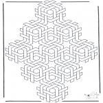 Allerhand Ausmalbilder - Geometrische Formen 4