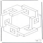 Allerhand Ausmalbilder - Geometrische Formen 5