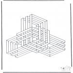 Allerhand Ausmalbilder - Geometrische Formen 9