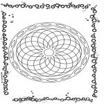 Malvorlagen Mandalas - Geometrische Mandala 1