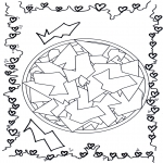 Malvorlagen Mandalas - Geometrische Mandala 2