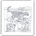 Ausmalbilder Tiere - Gepard