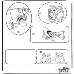 Malvorlagen Basteln - Geschenklabel 101 Dalmatiner