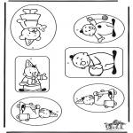 Malvorlagen Basteln - Geschenklabel Bumba