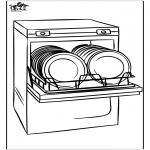 Allerhand Ausmalbilder - Geschirrspülmaschine