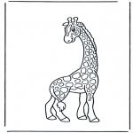 Ausmalbilder Tiere - Giraffe 2