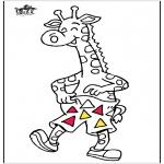 Ausmalbilder Tiere - Giraffe 5