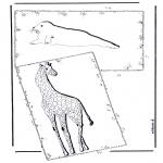 Ausmalbilder Tiere - Giraffe und Seehund