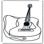 Allerhand Ausmalbilder - Gitarre 1