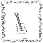 Allerhand Ausmalbilder - Gitarre 2